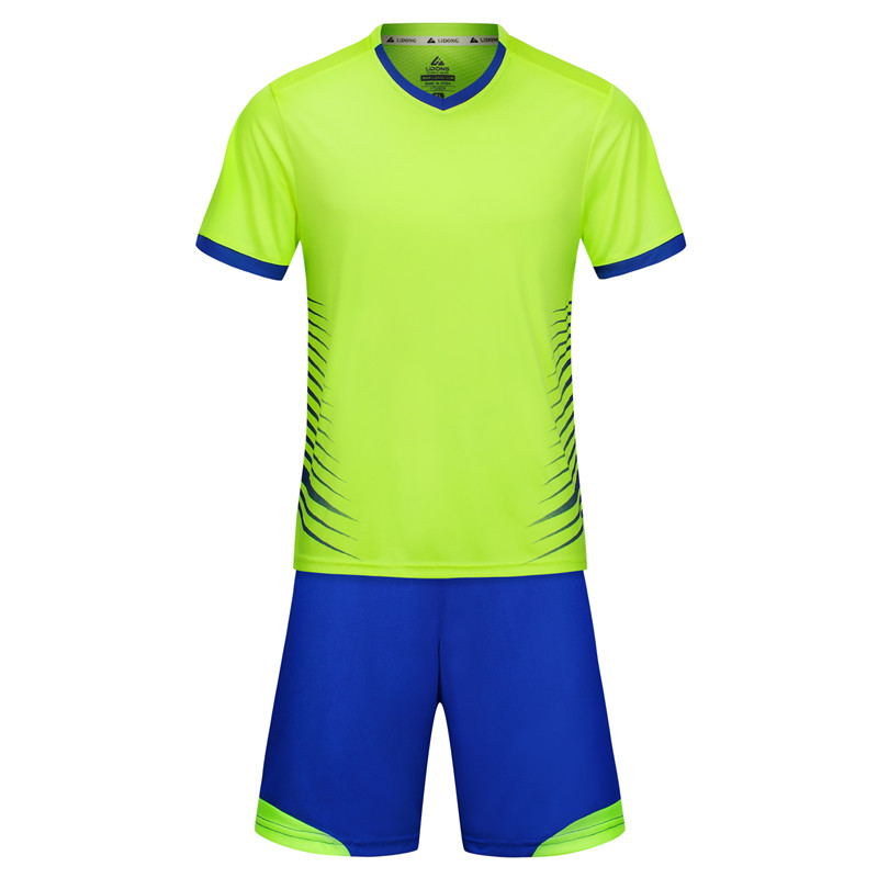 LIDONG New Men Boys Child Football Uniforms Soccer Jerseys Set Training futbol maillot de foot voetbal tenue kids 2018