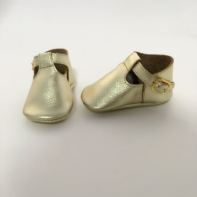 Holes Geninue Leather Infant Bow  Handmade Baby Shoes