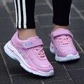 Спортивная обувь для девочек 26-37  детские кроссовки из дышащей сетки для девочек