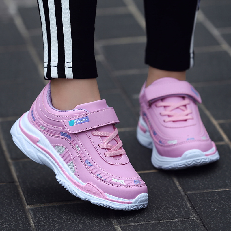 26-37 Kids Girls Sport Shoes Running Shoes Children Breathable Mesh Shoes For Girls Sneakers