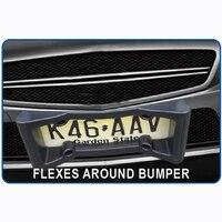 CHIZIYO License Plate Protector Car Auto Black Front Bumper Guard EVA American License Plate Frame Tag Cover Protector|License Plate| |  -
