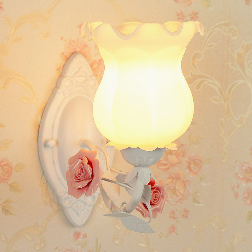 Flower Led Wall Lamp E27 Wall Mounted Bedside Reading Lamps 110 220v Modern Indoor Lighting Wall