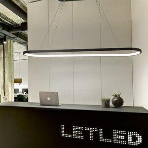 Image 3 - Длина 700/900/1200 мм современные светодиодные подвесные светильники для столовой кухни высокая яркость подвесной светильник лампа