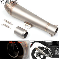 Universal Modified Motorcycle Exhaust Muffler with DB Killer Scooter FOR BMW F650GS F700GS F800GS/AdventuRe F800GT F800R F800S