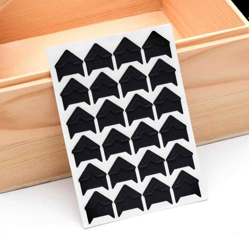120 pcs/lot 5 sheets DIY Vintage Corner Kraft Paper Stickers for Protect Photo Wedding Albums Frame Decoration Scrapbooking