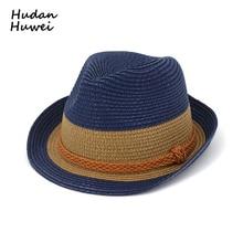Paja del verano del sombrero para hombres mujeres niños Jazz sombreros con  armadura viaje playa entre 1e41de1df319