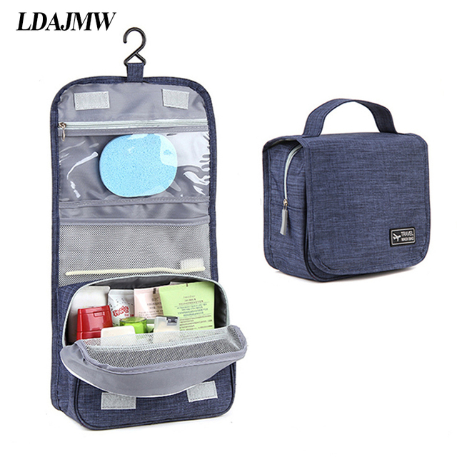 LDAJMW Portable Folding Toiletry Cosmetic Makeup Storage Bag Wash Bag  Hanging Organizer For Outdoor Travel 458b92a5f7802