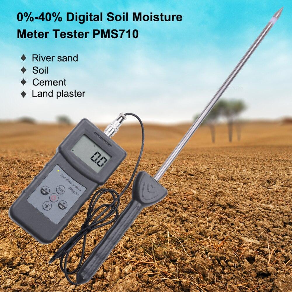 Yieryi Portatile Digitale PMS710 Del Suolo Misuratore di Umidità Del Suolo Sonda Analizzatore di Umidità per Calcestruzzo, Sabbia di Fiume, il Suolo, gesso In Polvere