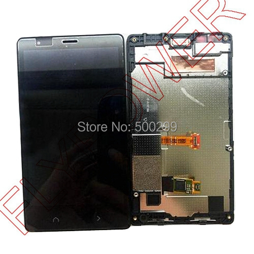 For Nokia X2 For Lumia X2 LCD Screen Display with Touch Screen Digitizer+frame Assembly by free shipping; 100% warranty;HQ;Black for lenovo vibe x2 x2 t0 lcd display touch screen digitizer frame assembly black by free shipping