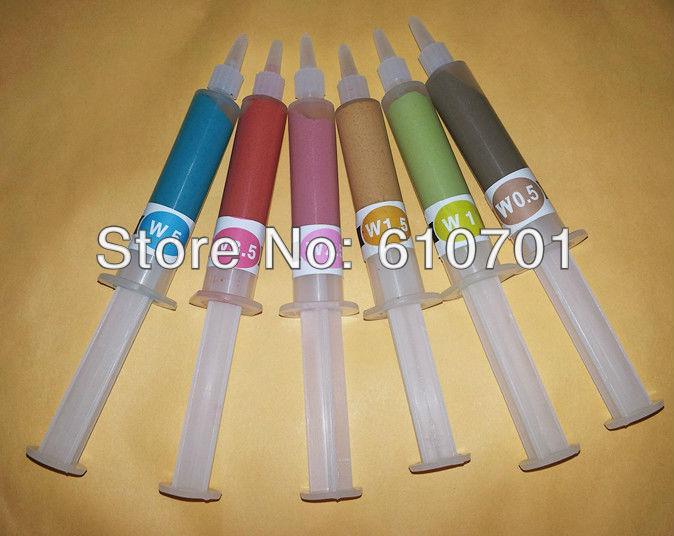 6pcs W0.5~W5(micron) Pin Tube 5g Diamond Compound Polishing Grinding Cream Lapping Paste Water Soluble 3200~1200 Grit Polisher
