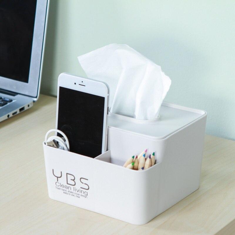 Creative Home multi-functional tissue box tissueroll Paper storage Box makeup organzer desktop storage Bathroom accessories