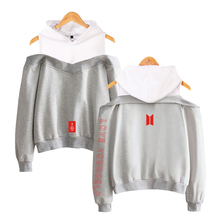 Bangtan7 Love Yourself Off-Shoulder Hoodies #3 (4 Colors)