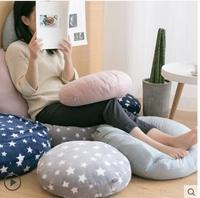 star printed soft big pillow cushion round seat cusioon nap bed lumbar pillow Bay window tatami cushion