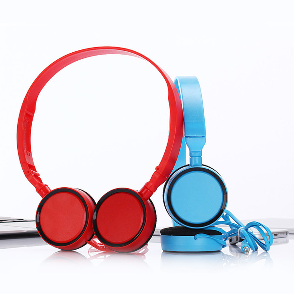 Vapeonly Foldable Headband Headphone Universal 3.5mm Wired Headset for Smartphone Laptop ipad Headsets with Mic Sports Earphone