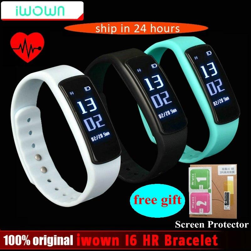 IWOWN I6 RH Smartband Moniteur de Fréquence Cardiaque Intelligent bracelet Sport bracelet Bluetooth 4.0 Smart Bande Fitness Tracker VS Mi Bande 1 S