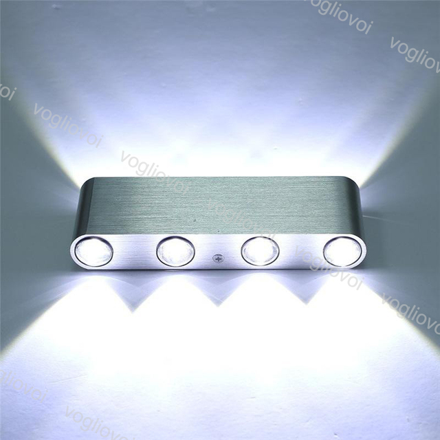 Vogliovoi Aluminum LED Up Down Wall Light 8W AC85-265V Modern Cuboid Wall Lamp Indoor Decoration Home Lighting