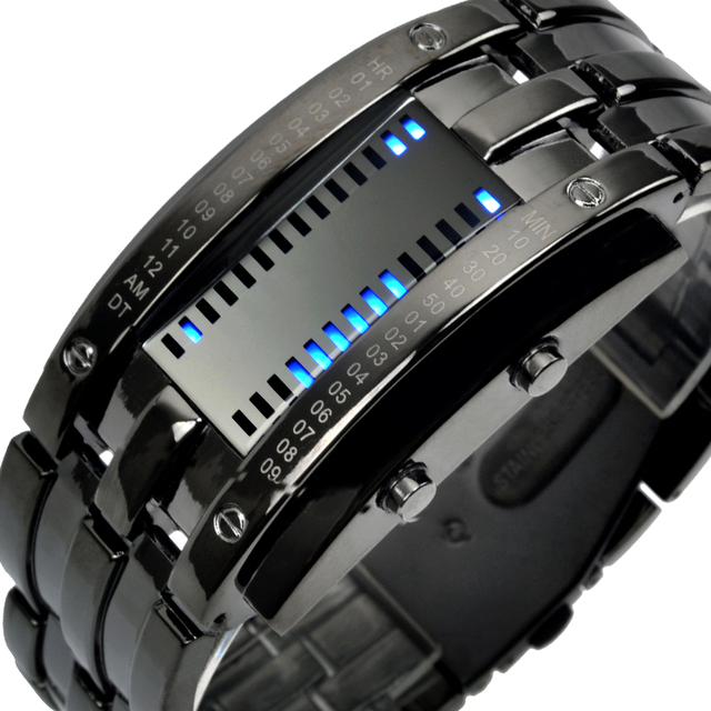 Creative Digital LED Display 50M Waterproof Lover's Wristwatch