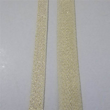 Cotton Gold lurex Webbing 1cm and 2cm width Beige webbing thread Herringbone 1yard