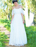2014 New Elegant Full Lace Wedding Gown Batwing Sleeve Floor Length Long Beach Bridal Dress Vestido