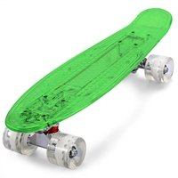 Gratis Verzending CL-403 22 inch vierwielaandrijving Transparant PC LED Retro Skateboard Longboard Mini Cruiser