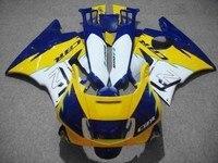 Dor racing Fairing body kit for 91 92 93 94 CBR 600 F2 Blue white plastic CBR600 1991 1992 1993 1994 fairings parts