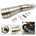 Moto motocicleta silenciador de escape em aço inoxidável silenciador tubo de escape para yamaha r1 cbr 1000rr barracuda 2012 2013 2016