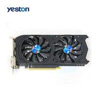 Yeston GTX1060 6G D5 GDDR5 192Bit Gaming Graphics Card Double Fan Custom Metal Backplane GAEA Series