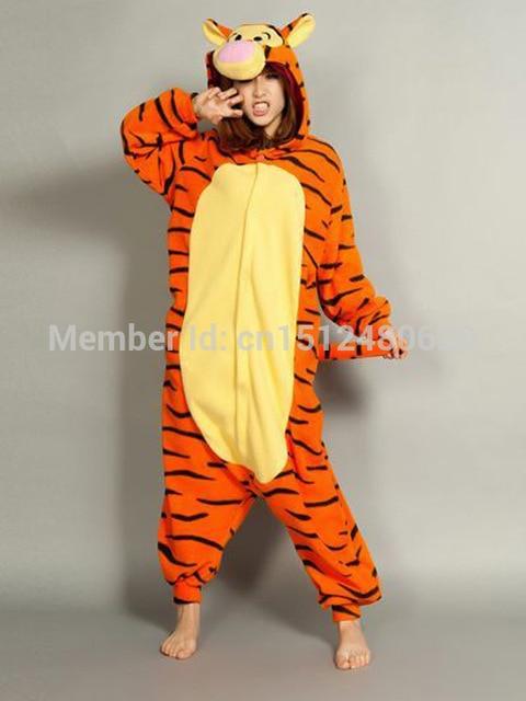 8d1d8a8bfeaf Adult Cute Animal Pajamas Tigger Onesies Hooded Animal Tiger Onesie ...