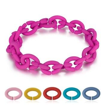 2019 Fashion Hard Rubber X Bracelets 10 Colors For Women Jewellery European style Bracelet Men Jewelry Diy Best Gift 1