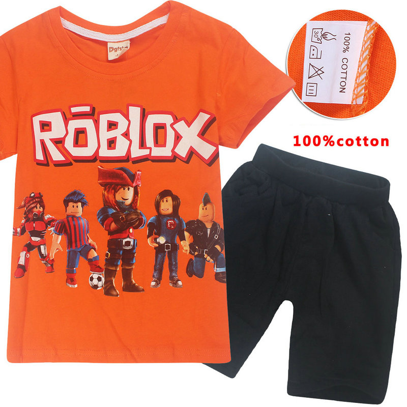 Roblox Brand Summer New Baby Tops Children S T Shirt Suit Clothes Animal Cotton Children S T Shirt Casual Pants 6 14 Years Old Clothing Sets Aliexpress