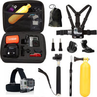 10 in 1 Sports camera storage box Buoyancy rod Action camera Accessories Kit for GoPro Hero 6/5/4/3