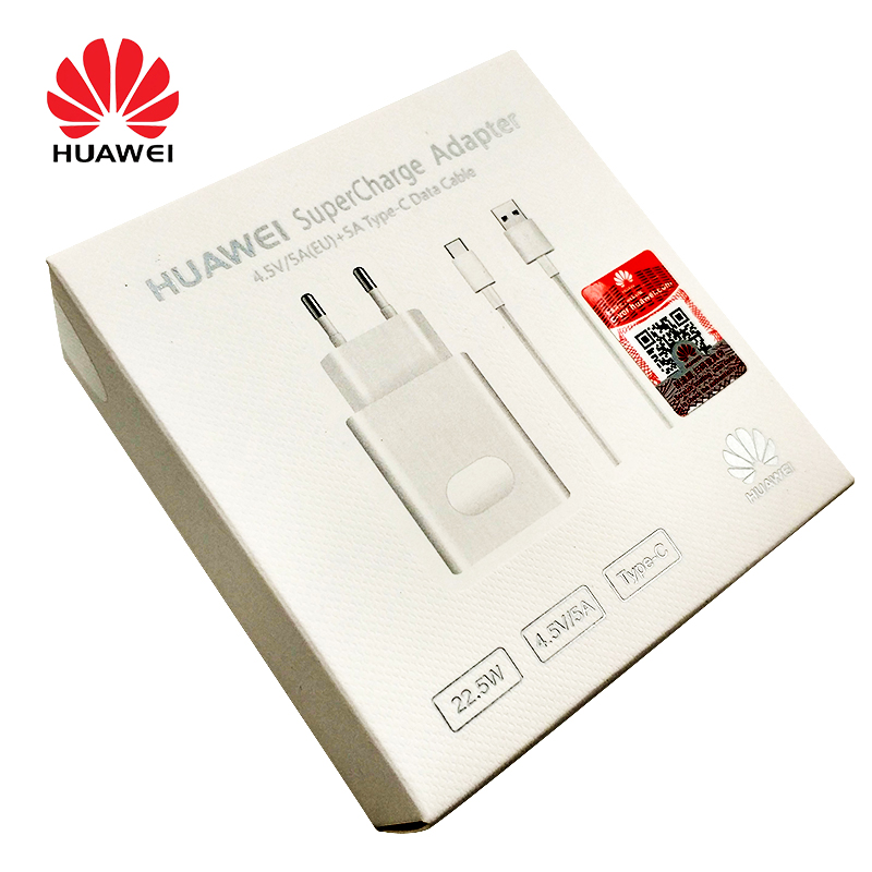 HUAWEI Adapter Mate Type-C-Cable Eu-Plug Fast-Charger P20 P30 Pro 5v 4.5a Original 1