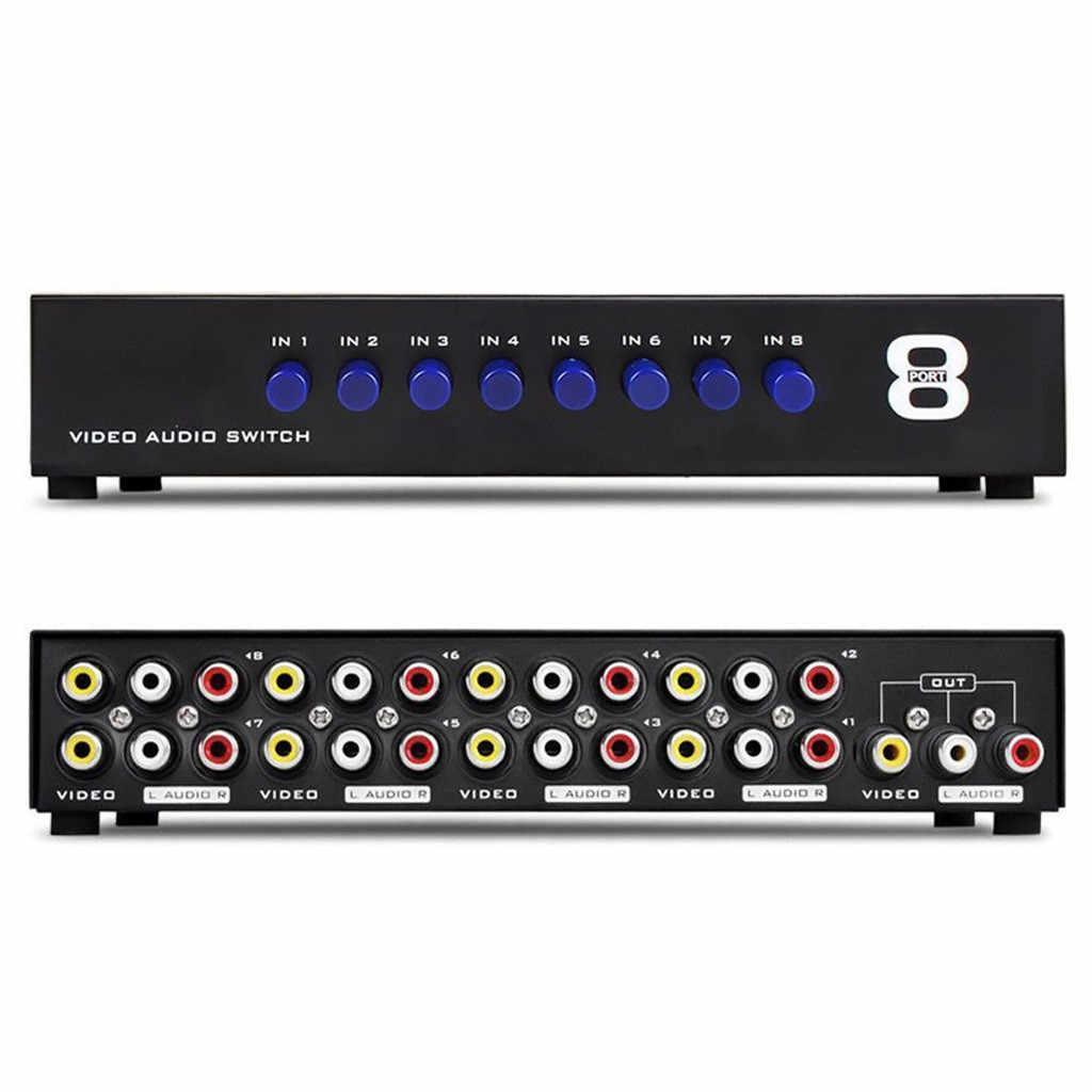 8 портов композитный видео аудио 3 RCA av-переключатель переключатель коробка селектор 8 в 1 выход