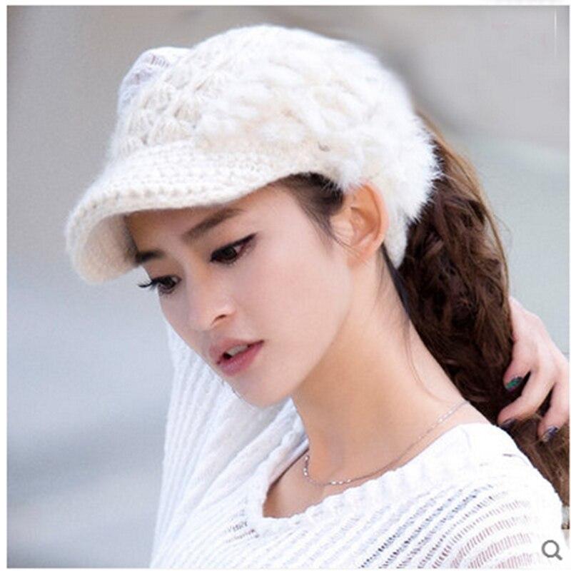 все цены на Winter hat female autumn Korean version of the tide ladies hat fashion rabbit hair empty cap hat winter Korean wool hat woman онлайн