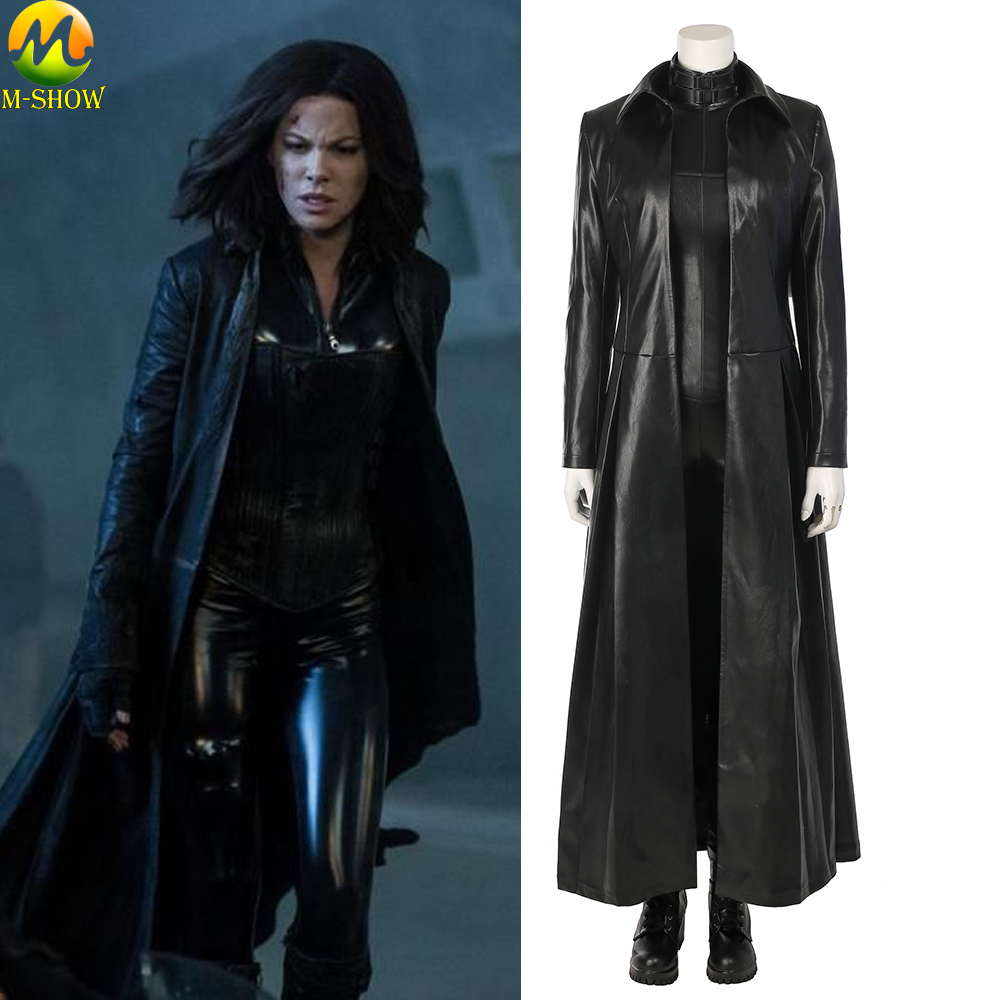 Underworld Blood Wars Selene Cosplay Costume Vampire Selena Cosplay Costume Women Halloween Jumpsuit Leather Clothing
