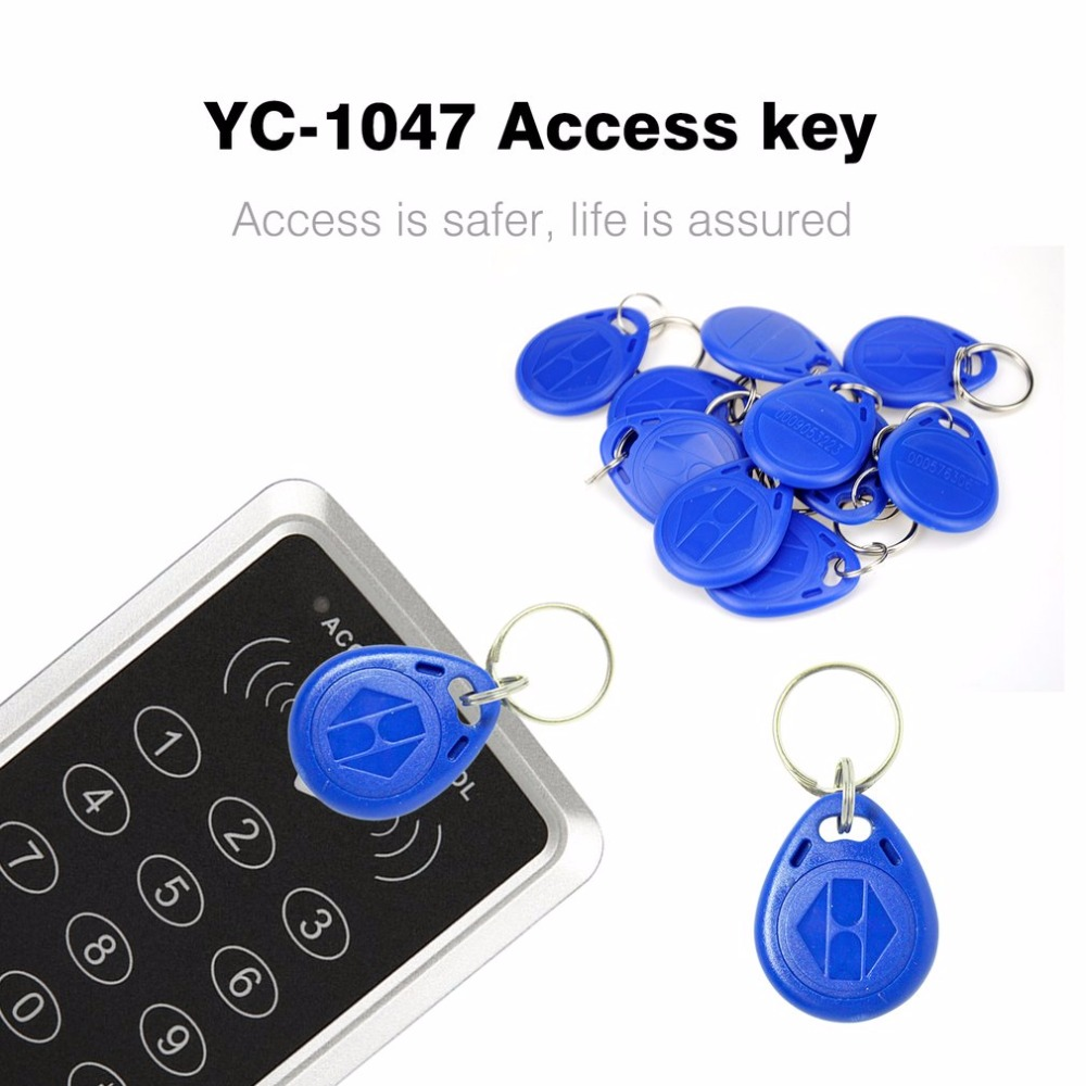 100PCS/Lot RFID Tag Proximity ID Token Tags Key Keyfobs Ring 125Khz RFID Card Proximity Chip ID TK4100 For Attendance System waterproof contactless proximity tk4100 chip 125khz abs passive rfid waste bin worm tag for waste management