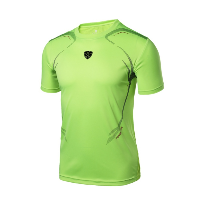 Mens Quick Drying T-shirts Quick Dry Men Sport Running T-shirts Breathable Sports Fitness Gym Shirt Tops 2018 Summer New