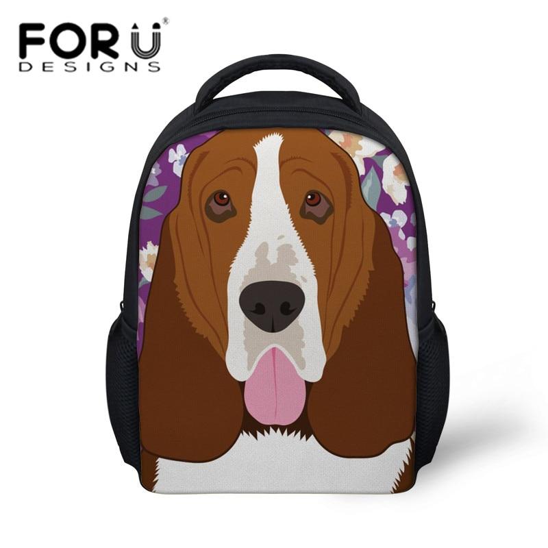776344c684cce Aliexpress.com : Buy FORUDESIGNS School Bags for Kids Girls Basset Hound  Dog Printing Small School Book Bag Children Kindergarten Backpack Boys  Bolsa ...
