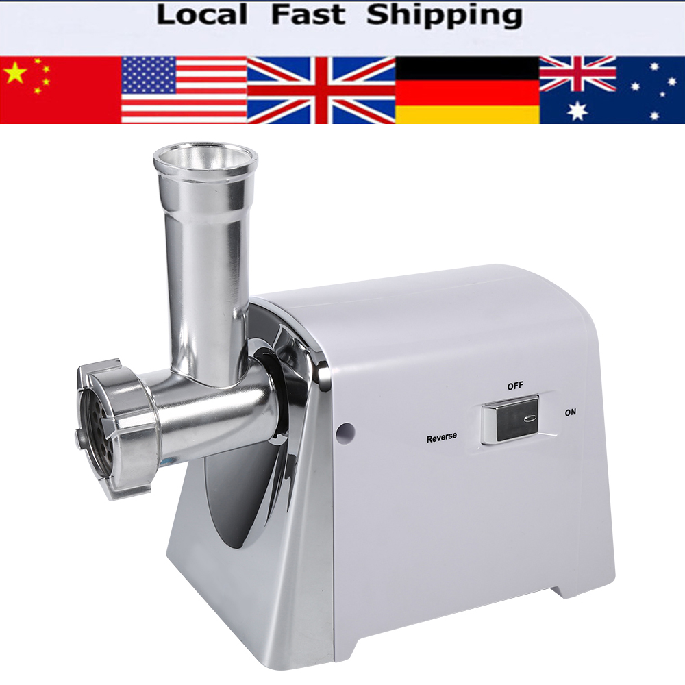 Electric 1600W Industrial Meat Grinder Mincer Sausage Maker Machine 3 Cutting Blades For Meat Processing Plants