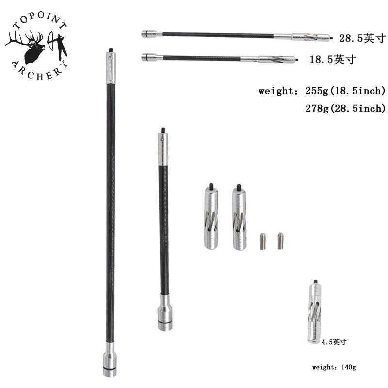 1Set 18.5/28.5inch Archery Carbon Stabilizer PR602 Aluminium Alloy Main-Bar Balance Bar Compound Recurve Bow Shooting Accessory цена