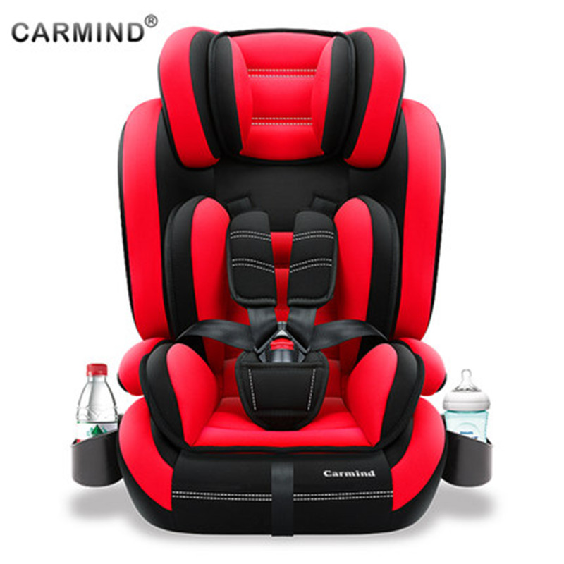 Child car safety seat with cup holder isofix soft interface car seats for 1-12 years old and 9-36KG simple universal armchair все цены