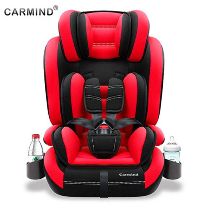 Enfant siège de sécurité avec porte-gobelet de voiture isofix doux interface de voiture sièges pour 1-12 ans et 9 -36 kg simple universel fauteuil