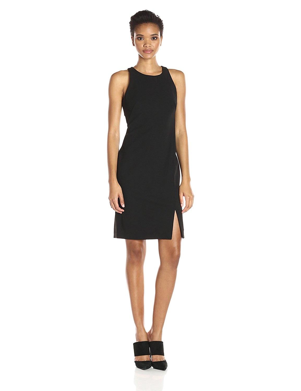 Customize Spring Summer New Fashion Vestido Women Celebrity High Street Dresses Ladies Sleeveless Above Knee Side Slit Dress