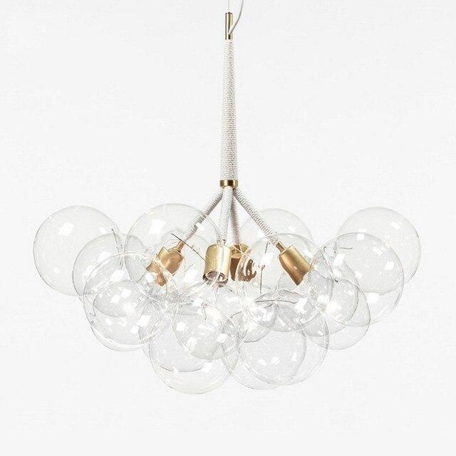 9 /12 /20 Bubbles Modern Art Molecular Glass Chandelier Fashion Designer Dinner Bedroom Kitchen Led Hanging Light Fixtures