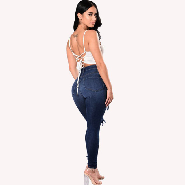 Stretch Skinny Ripped Jeans  4