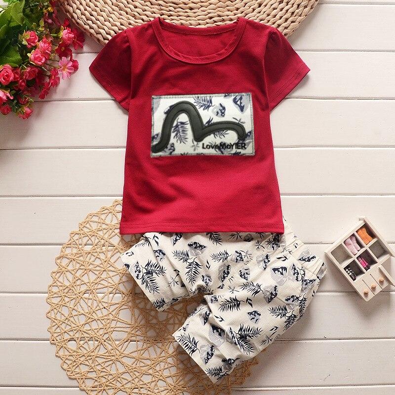 UK Stock Toddler Baby Boy Summer Outfit Clothe Shirt Pants 2PCS Set Kids Clothes