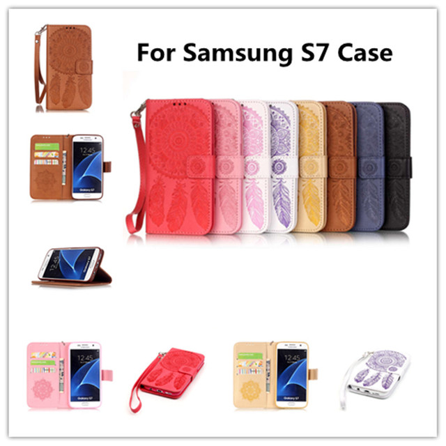 Flip Leather Phone Case Cover for Samsung Galaxy S7 S 7 7S Hero G930 G930F G930U G930FD G930R7 SM-G930f SM-G930fd SM-G930U Bags