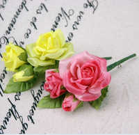 K15182 Wholesale Simulation Rose Corsage Wedding Hat Cloth Decorative Home bonsai Artificial flowers Valentine's Day Decorative
