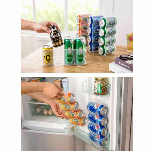 Dapur Penyimpanan Bir Baru Kaleng Soda Pemegang Penyimpanan Dapur Organisasi Kulkas Rak Plastik Ruang