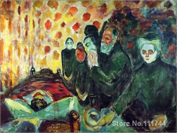 abstract paintings By the Deathbed Edvard Munch artwork hand painted high quality